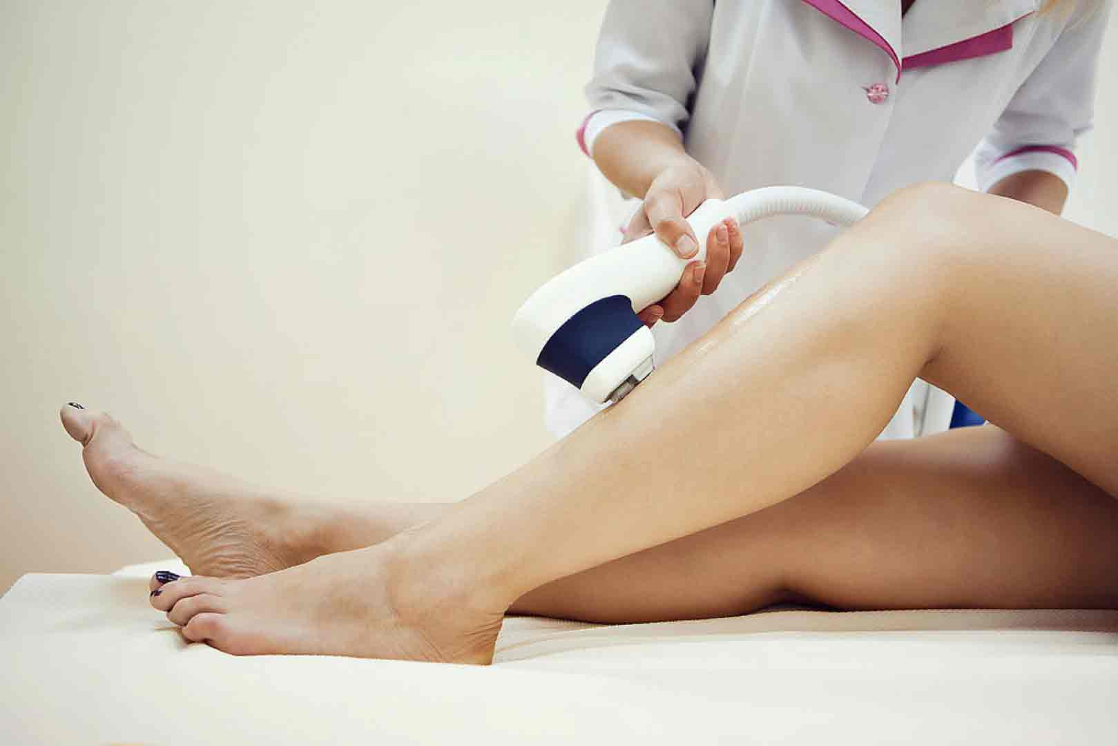 What is the danger of deep bikini laser hair removal?