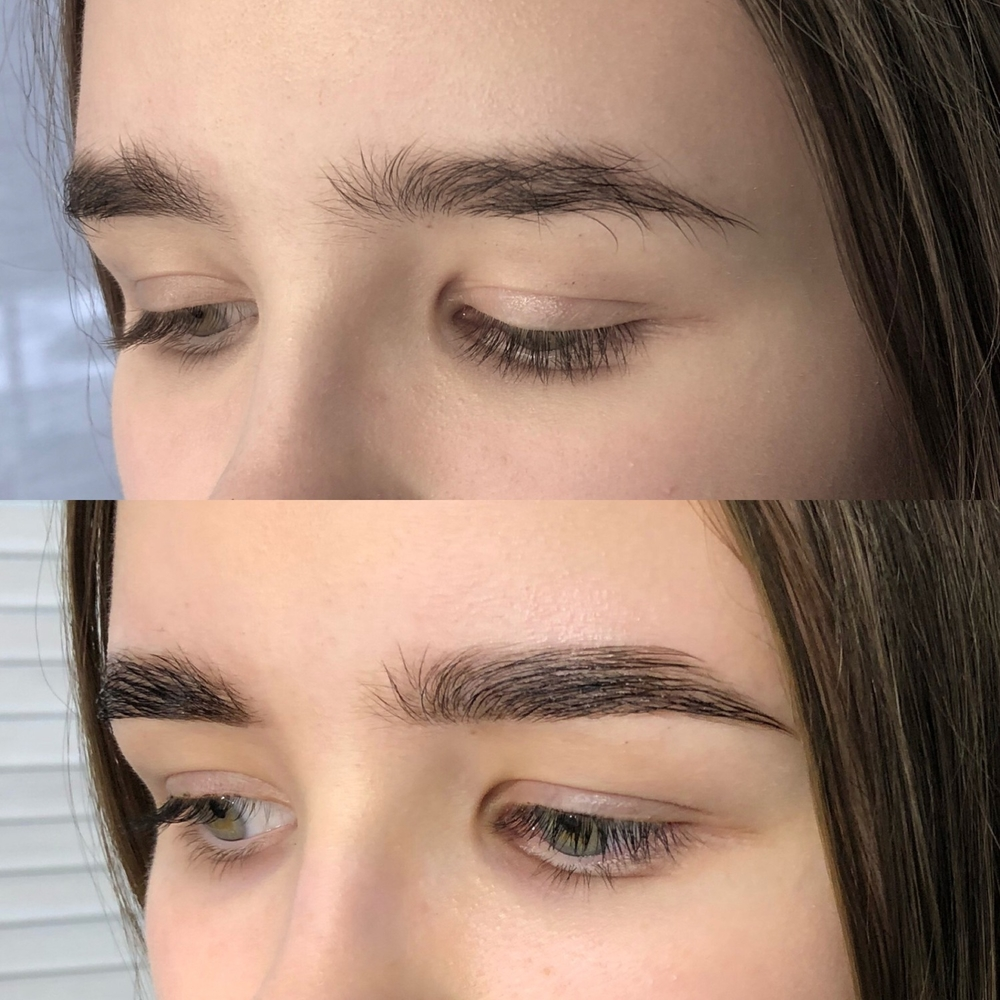 What is permanent styling of eyebrows with coloring?