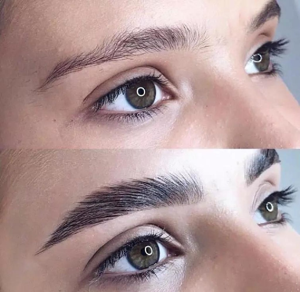 How long does long-term styling of eyebrows last?