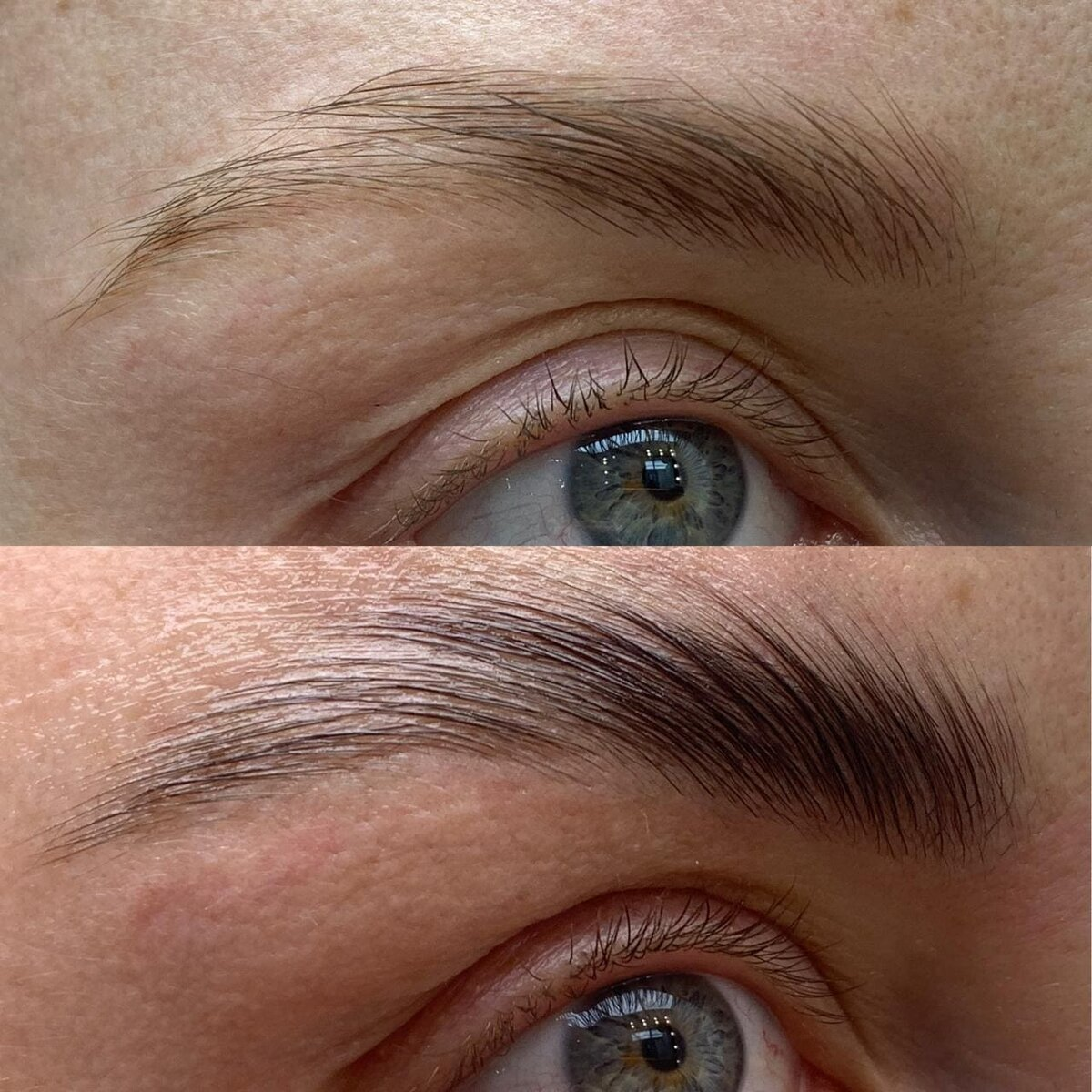How does laminating eyebrows differ from long-term styling