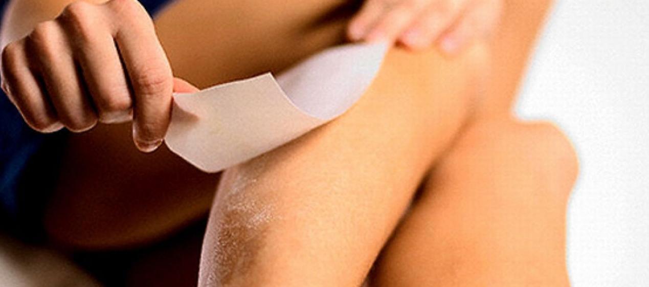 Waxing hair removal